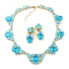 Lite Iris Necklace Set ~ Aqua