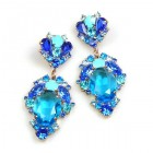 Mythique Extra Earrings for Pierced Ears ~ Aqua Blue