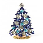 Xmas Tree Standing Decoration 2020 #08 Aqua Blue