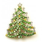 Chain Xmas Tree Brooch #05