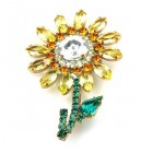 Flower Pin Medium ~ Yellow