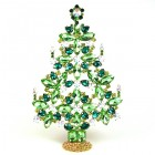 2020 Xmas Tree Decoration 22cm ~ Green AB Emerald
