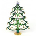 18cm Xmas Tree with Dangling Rondelles ~ Green AB