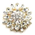 Grand Blossom Brooch ~ Large ~ Clear Crystal