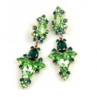 Earrings Green Collection Pierced ~ #1