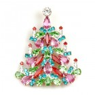 Xmas Tree Brooch #03 ~ Pastel Colors
