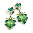 Sweet Temptation Earrings Pierced ~ Green with Emerald