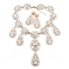 Ellie Chunky Necklace Set ~ Clear Crystal