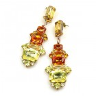 Xanthe Earrings Pierced ~ Yellow Topaz