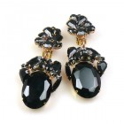 Fiore Clips Earrings ~ Black