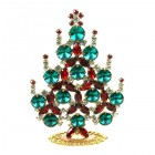 Rivoli Xmas Stand-up Tree 9cm ~ Emerald Red Clear