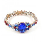 Fondness Bangle Bracelet ~ Blue and Red