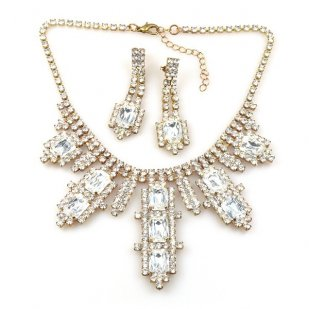 Laura Necklace Set ~ Clear Crystal