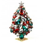 3 Dimensional Large Xmas Tree Decoration ~ Clear Red Emerald