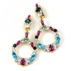 Paradise Valley Clips Earrings ~ Multicolor