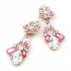 Parisienne Bloom Earrings Clips ~ Sweet Pink