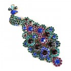 Peacock Brooch Multicolor