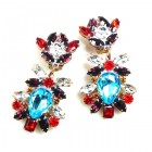 DG Replica Earrings Clips ~ Aqua