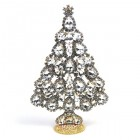 2019 Xmas Tree Pears Rhinestones Decoration ~ Clear Crystal