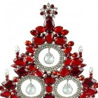 13 Inches Tall Giant Xmas Tree with Baubles ~ Red Crystal