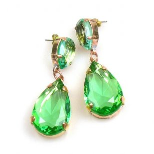 Pears Earrings Pierced ~ Green