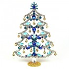 18cm Xmas Tree with Dangling Rondelles ~ Blue Aqua