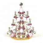 Xmas Tree Standing Decoration 2020 #03 ~ Pink Clear