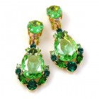 Intermezzo Earrings Clips ~ Green with Emerald