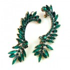 Bridal Navette Earings ~ Emerald