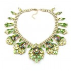 Fancy Essence Necklace ~ Yellow Peridot Green Vitral