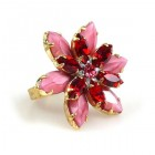 Sensual Desire Ring ~ Opaque Pink with Red