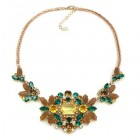 Florence Necklace ~ Dark Topaz Emerald Yellow