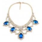 Mystery Necklace ~ Crystal Capri Blue