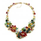 Power of Flowers ~ Necklace ~ Multicolor