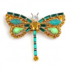 Dragonfly Baguette Stones ~ Emerald Topaz