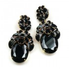 Extra Elipse Earrings Long Pierced ~ Black