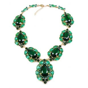 Sonatine Necklace ~ Emerald Green