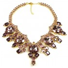 Taj Mahal Necklace ~ Amethyst ~ Gold Plated