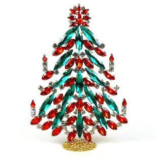 2020 Xmas Tree Decoration 18cm Navettes ~ Emerald Red