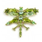 Dragonfly Brooch Extra Large ~ Olive Green