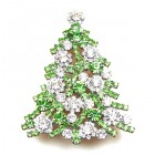 Xmas Tree Brooch #10 ~ Clear Green