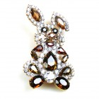 Bunny Easter Brooch Medium ~ Dark Topaz