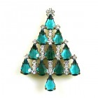 Xmas Tree Brooch #08 ~ Emerald