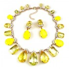 Effervescence Necklace Set ~ Opaque Yellow with Jonquil