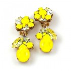 Fascinate Earrings Clips ~ Opaque Yellow