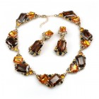 Pearlesque Necklace and Earrings ~ Amber Beauty