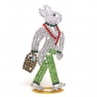 Walking Bunny Easter Standing Decoration Large (3)