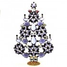 2018 Xmas Tree Stand-up Decoration 22cm ~ Purple Violet