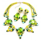 Muse Necklace Set ~ Extra Yellow Lime Green