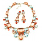Fairy Jive Necklace Set with Earrings ~ Alpenglow
